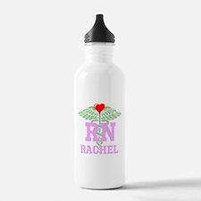 Personalized RN heart caduceus Water Bottle