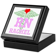 Personalized RN heart caduceus Keepsake Box