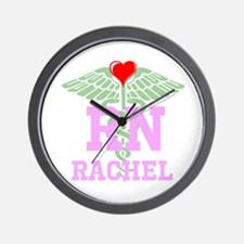 Personalized RN heart caduceus Wall Clock