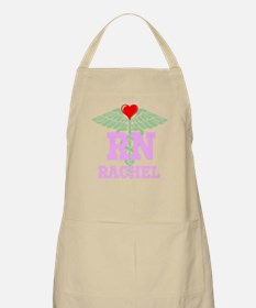 Personalized RN heart caduceus Apron