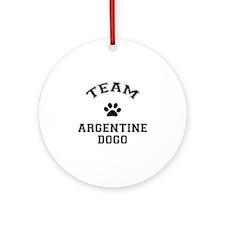 Team Argentine Dogo Ornament (Round)