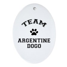 Team Argentine Dogo Ornament (Oval)
