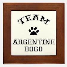 Team Argentine Dogo Framed Tile
