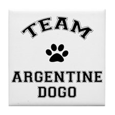 Team Argentine Dogo Tile Coaster
