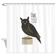 Owl Love Shower Curtain