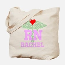 Personalized RN heart caduceus Tote Bag