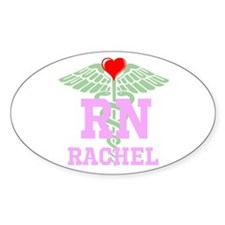 Personalized Rn Heart Caduceus Decal