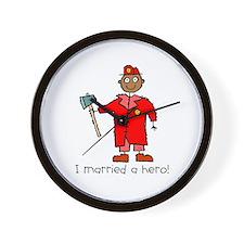 I Married a Black Fireman Wall Clock