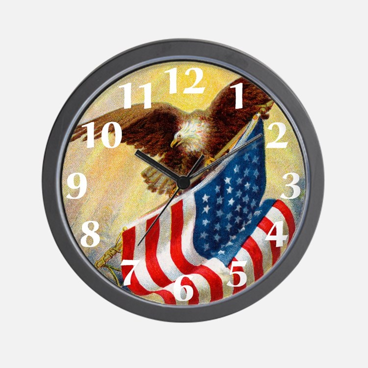 American Flag Clock