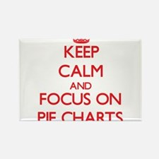 Keep Calm and focus on Pie Charts Magnets