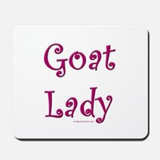 goat lady curly pink Mousepad