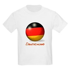 Deutschland Flag Soccer Ball T-Shirt