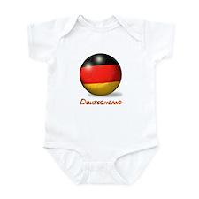 Deutschland Flag Soccer Ball Infant Bodysuit