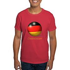 Deutschland Flag Soccer Ball T-Shirt