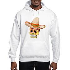 Mexico Sugar Skull with Sombrero Hoodie