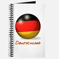 Deutschland Flag Soccer Ball Journal