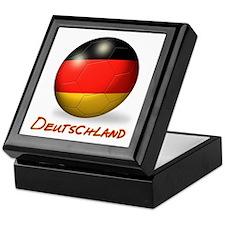 Deutschland Flag Soccer Ball Keepsake Box