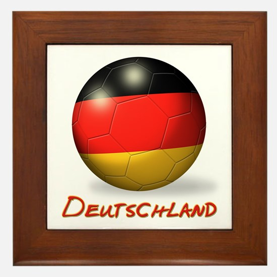 Deutschland Flag Soccer Ball Framed Tile