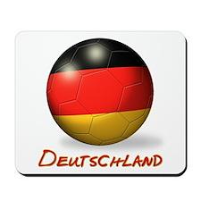 Deutschland Flag Soccer Ball Mousepad