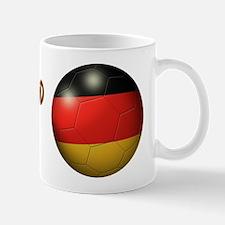 Deutschland Flag Soccer Ball Mug