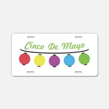 Cinco De Mayo Aluminum License Plate
