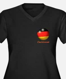 Deutschland Flag Soccer Ball (PP) Women's Plus Siz
