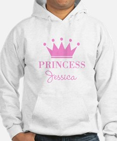 Personalized pink princess crown Hoodie