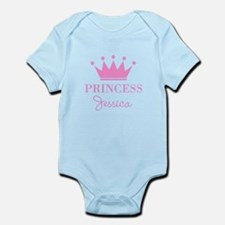 Personalized pink princess crown Body Suit
