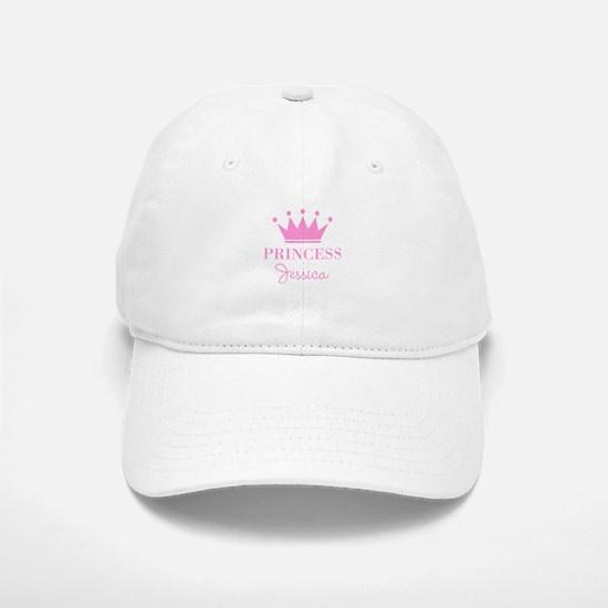 Personalized pink princess crown Baseball Cap