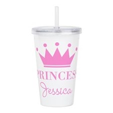 Personalized pink princess crown Acrylic Double-wa