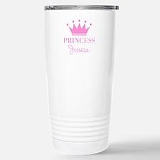 Personalized pink princess crown Travel Mug
