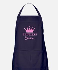 Pink Princess Crown Apron (dark) For Women