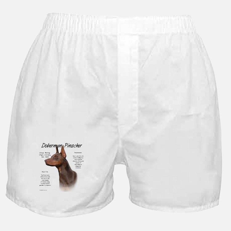 Red Doberman Pinscher Boxer Shorts
