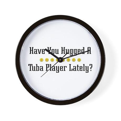 Hugged Tuba Player Wall Clock