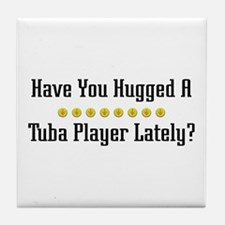 Hugged Tuba Player Tile Coaster