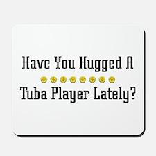 Hugged Tuba Player Mousepad