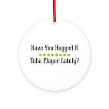 Hugged Tuba Player Ornament (Round)