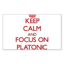 Keep Calm and focus on Platonic Decal
