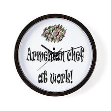 Armenian Chef Wall Clock