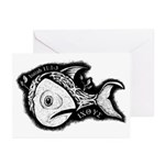 Jesse's Tree Fish Greeting Cards (Pk of 10)