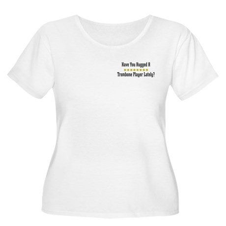Hugged Trombone Player Women's Plus Size Scoop Nec