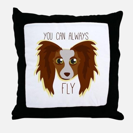 Papillion Fly Throw Pillow