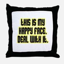 Happy face Throw Pillow