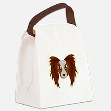 Papillion Head Canvas Lunch Bag