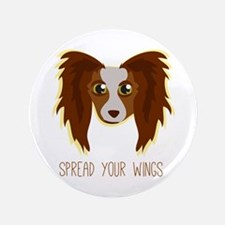 """Dog Wings 3.5"""" Button"""