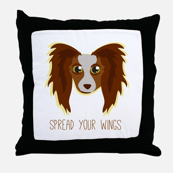 Dog Wings Throw Pillow