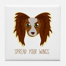 Dog Wings Tile Coaster