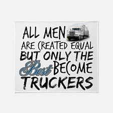 Best Become Truckers Throw Blanket