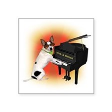 chihuahua music white Sticker