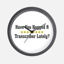 Hugged Transcriber Wall Clock